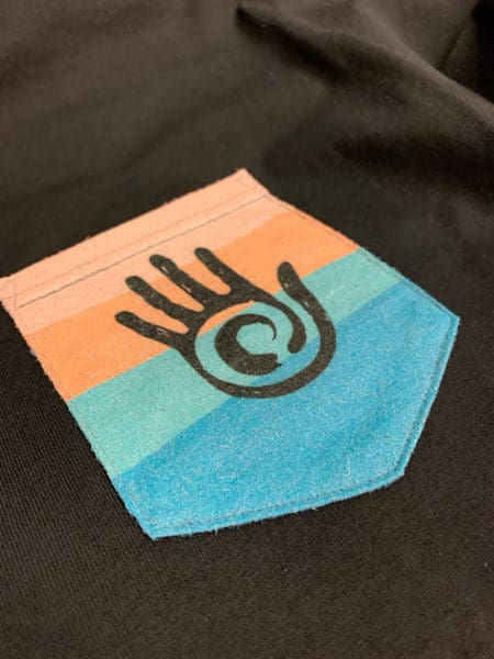 Hand Patch DTG Printed Pocket Tee by TAKE4 in Alpharetta, GA