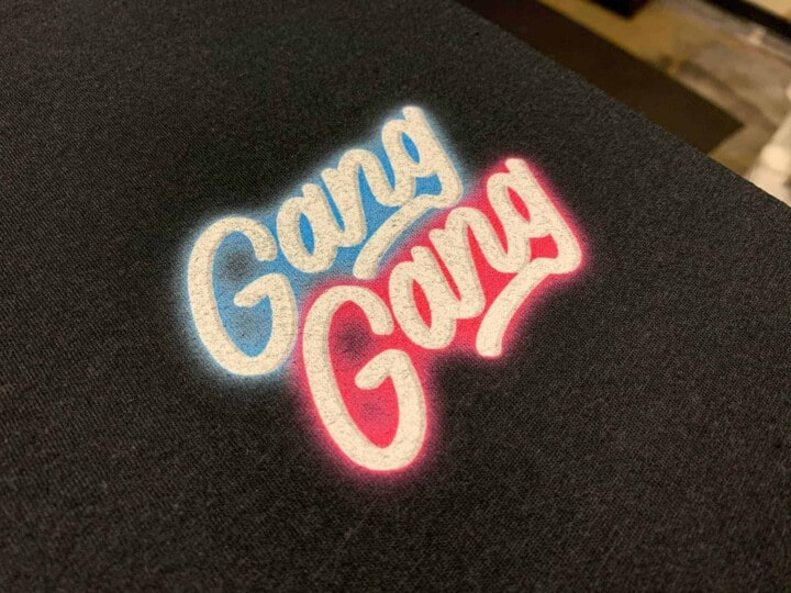 Gang Gang DTG Printed Tee by TAKE4 in Alpharetta, GA