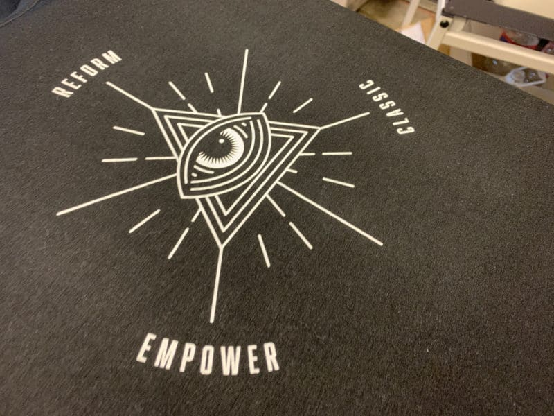 Reform Empower Classic Barre Fitness DTG Printed Tee by TAKE4 in Alpharetta, GA