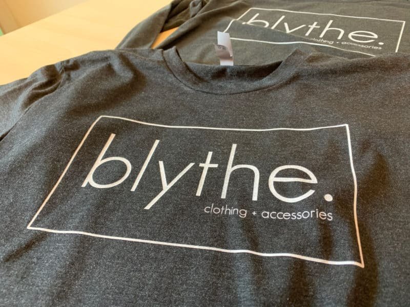 Blythe Clothing DTG Printed Tee by TAKE4 in Alpharetta, GA