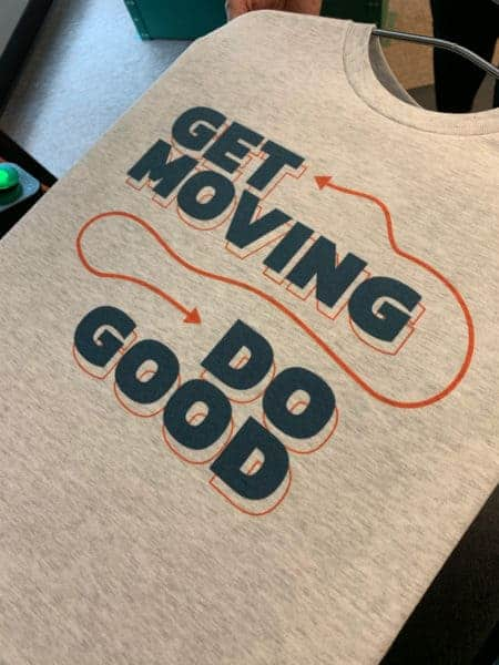 Get Moving Do Good DTG Printed Apparel by TAKE4 in Alpharetta, GA