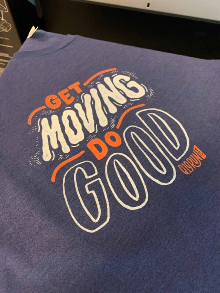 Get Moving Do Good DTG Printed Tee by TAKE4 in Alpharetta, GA