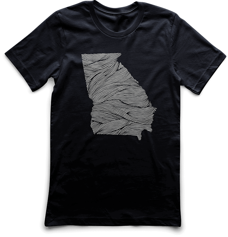 Georgia Ropes Tee DTG print by TAKE4 in Atlanta, GA
