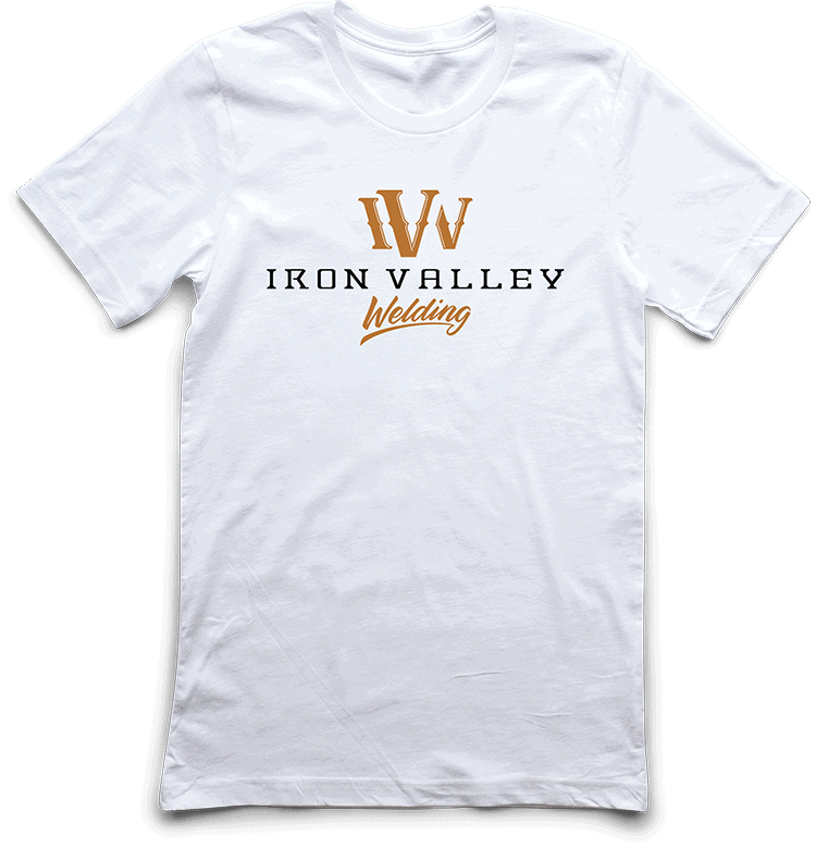iron valley welding tee dtg printed by TAKE4 in Atlanta, GA
