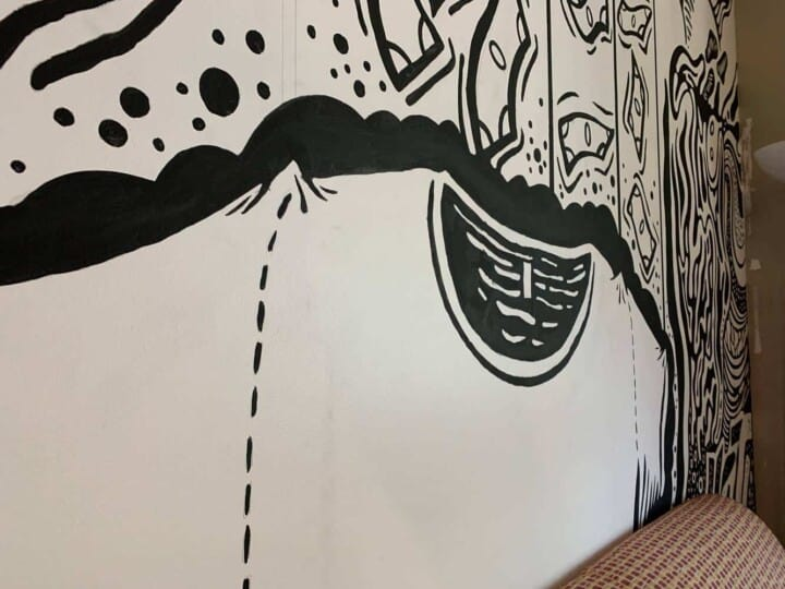 TAKE4 office mural in Alpharetta, GA